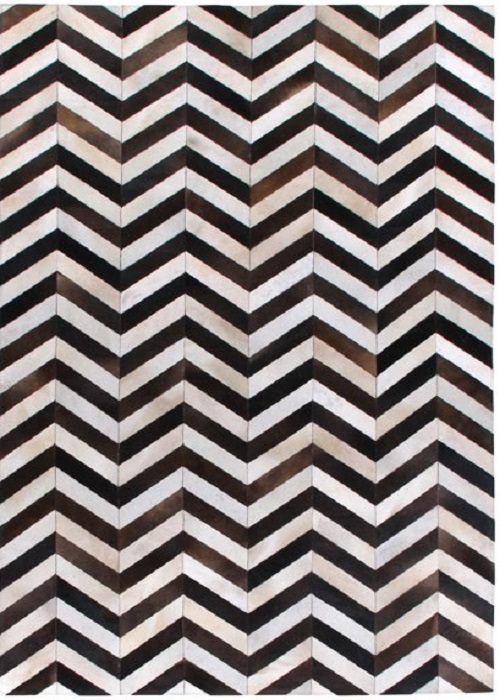 Leather Rug ZIGZAG