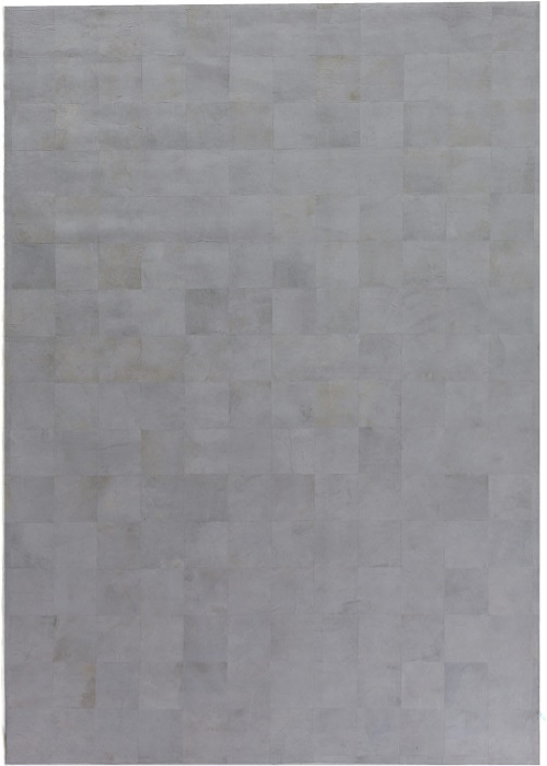 Leather Rug Silver