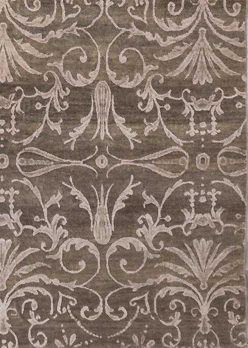 Persian Wool Silk Grey/Camel