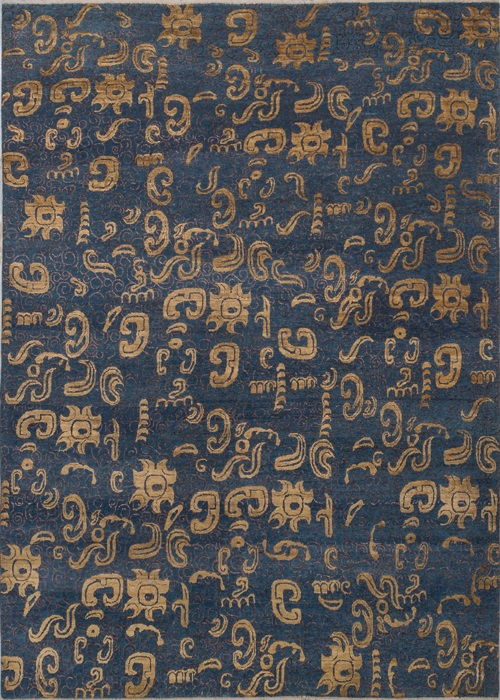 Persian Wool Silk Sona/Navy